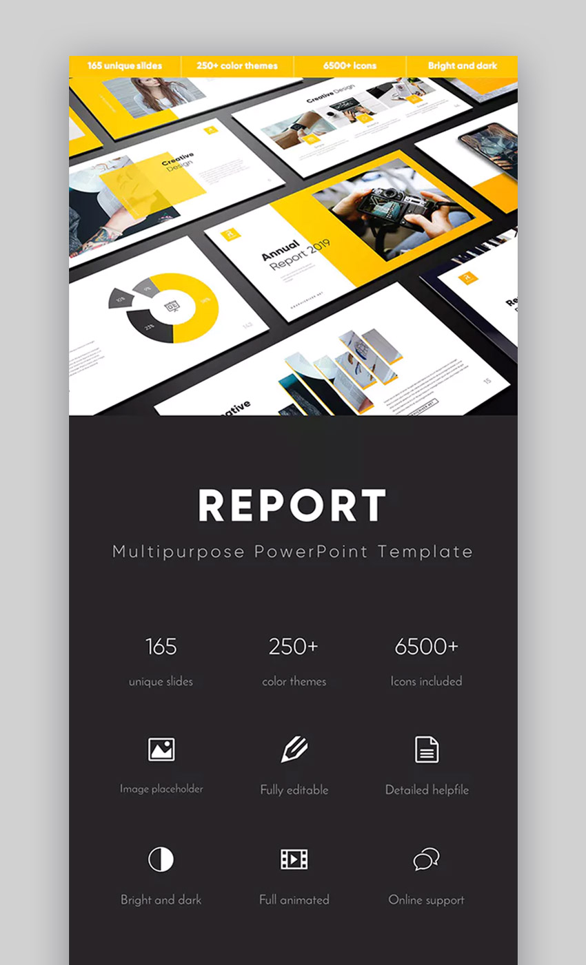 Report Multipurpose PowerPoint business template