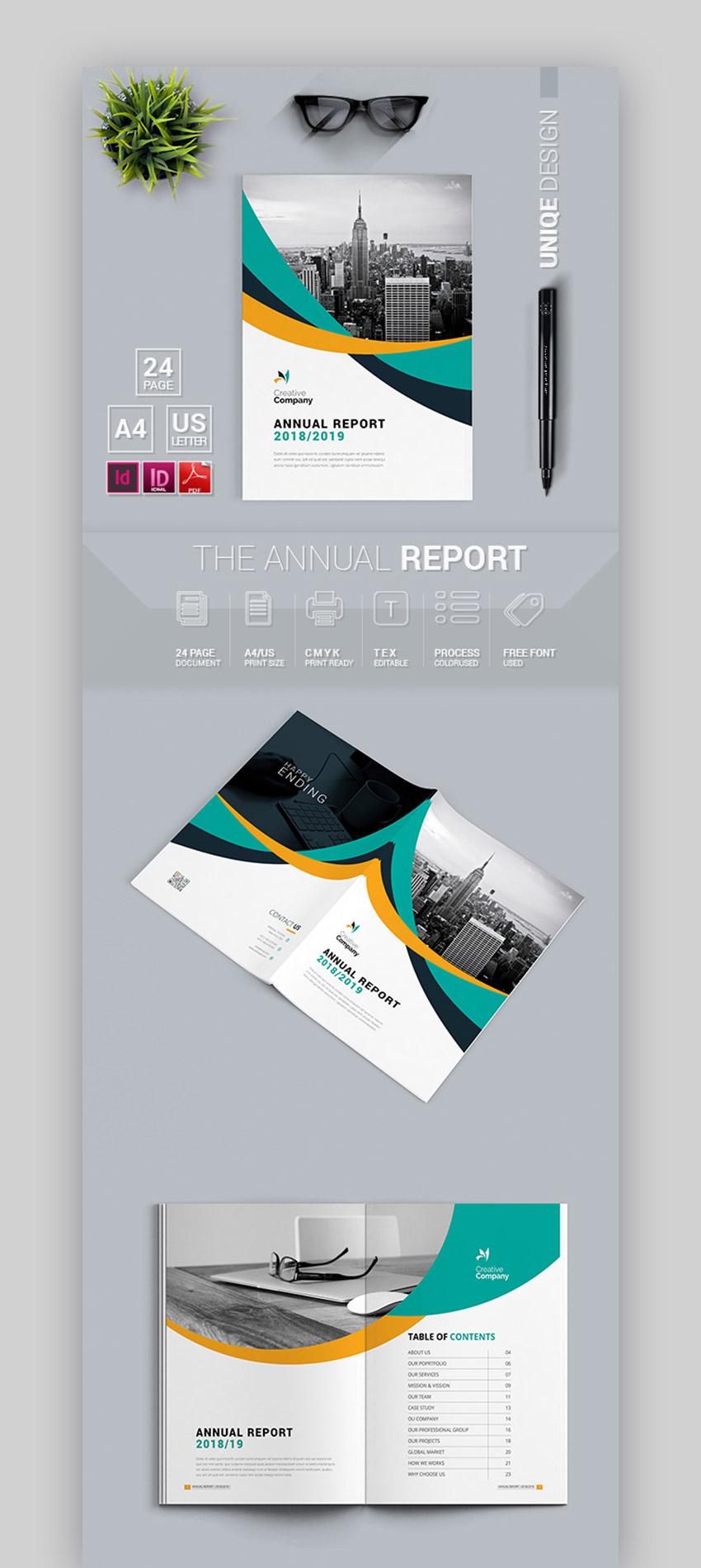 Modern  Minimal Annual Report