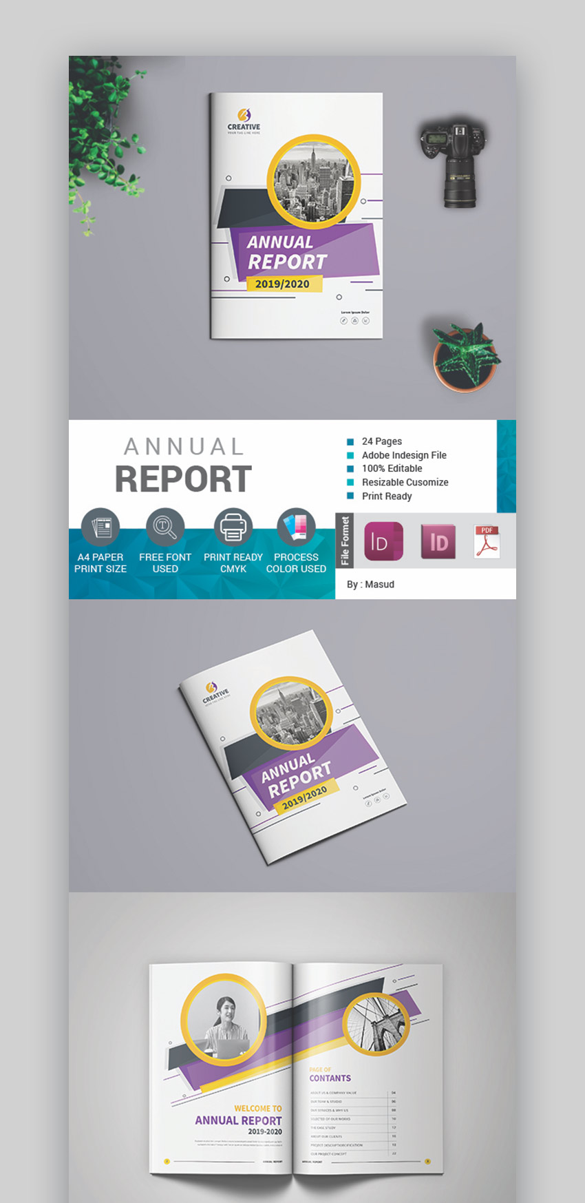 Creative Annual Report Template