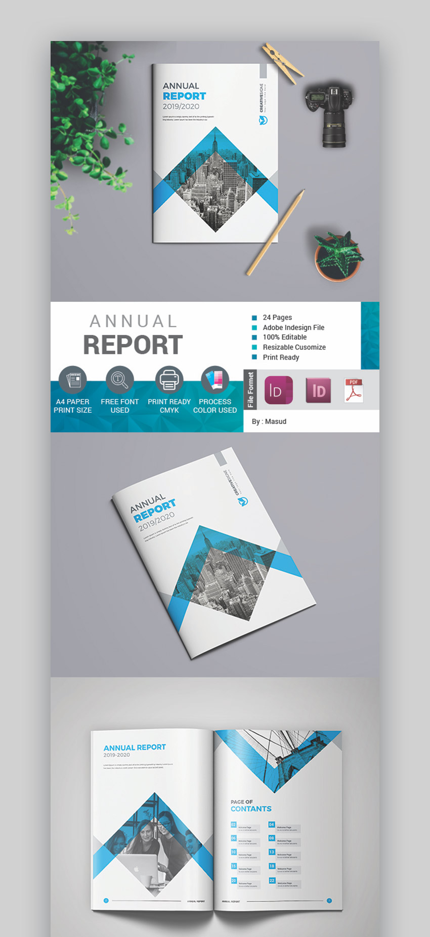 Easy to Edit Annual Report Template