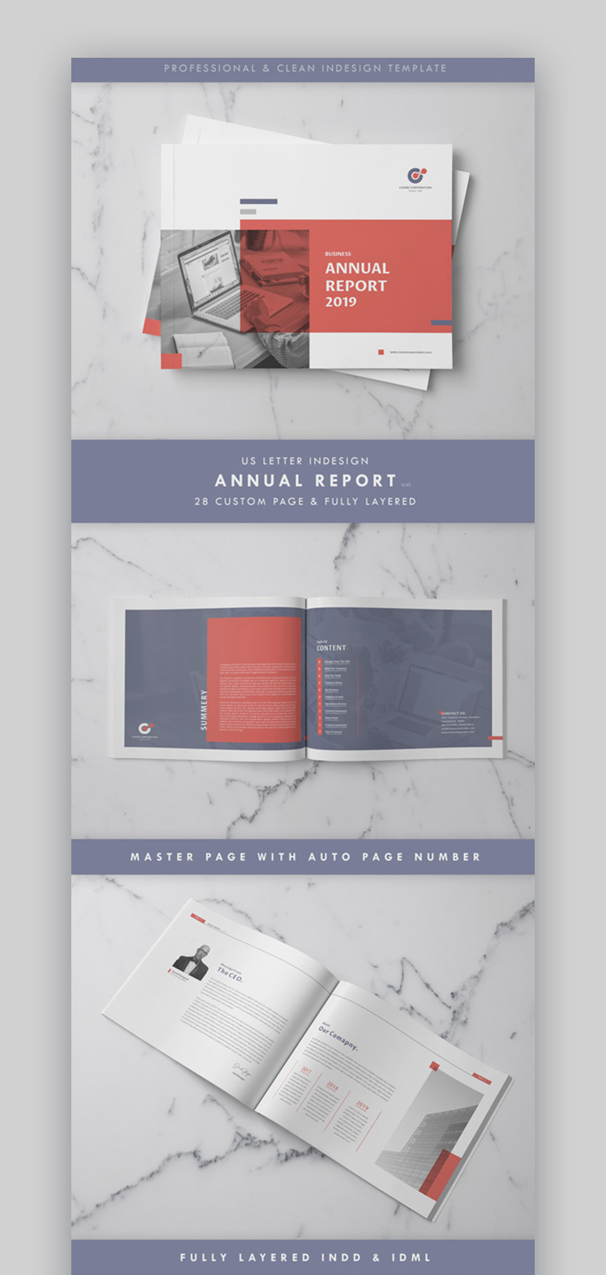 Extra Wide Annual Report Template