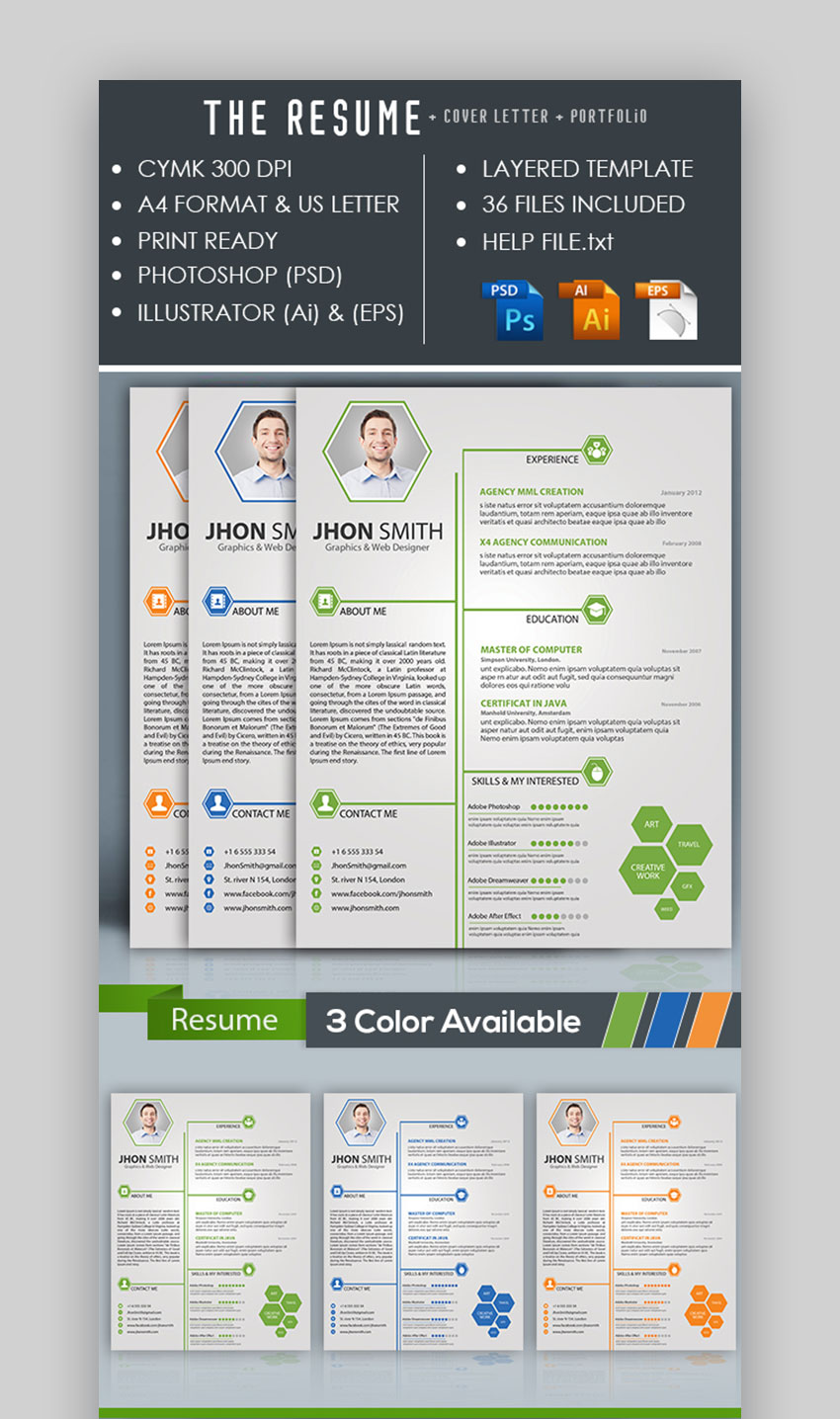 Infographic Focused Resume