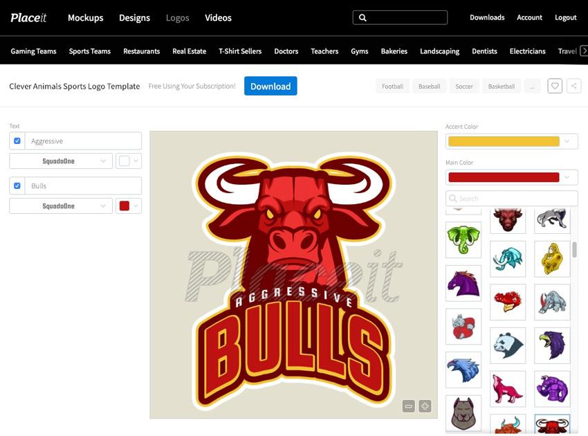 Animal Logo Sports Template