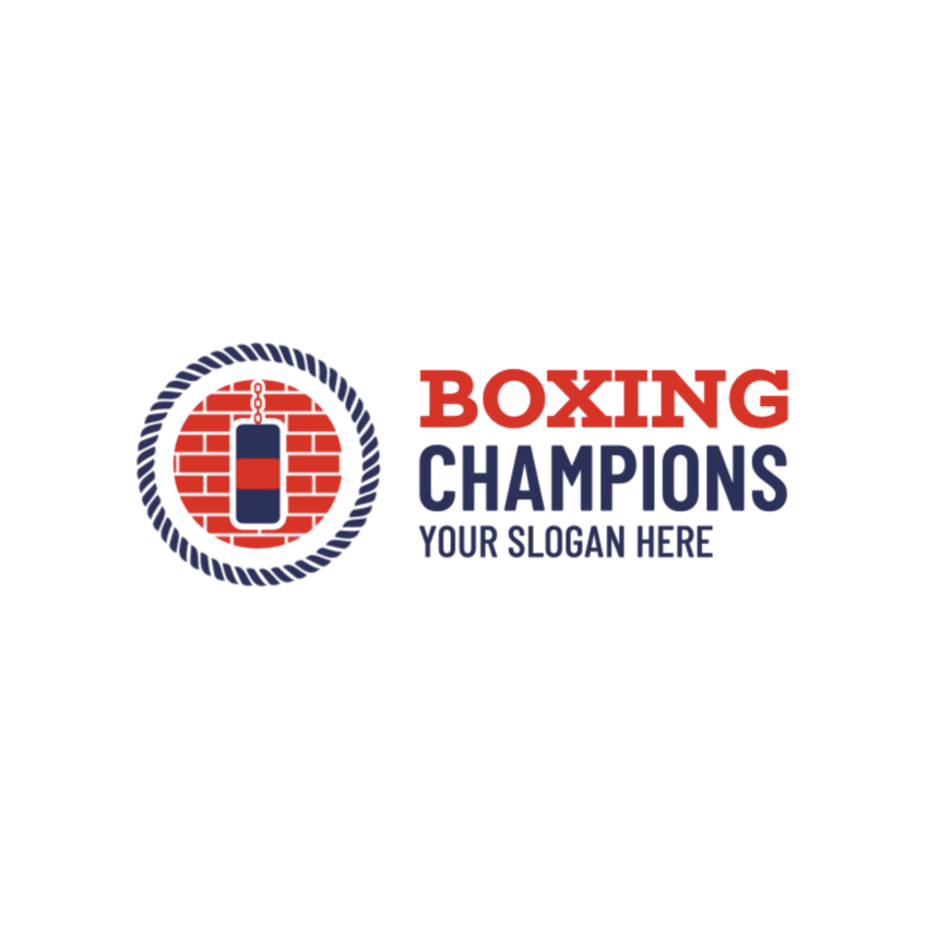 Boxing Gym Logo with Punching Bag
