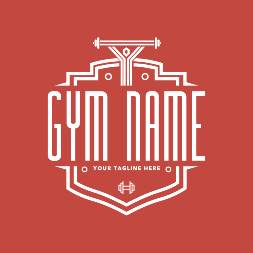 Gym Logo Maker with Shields