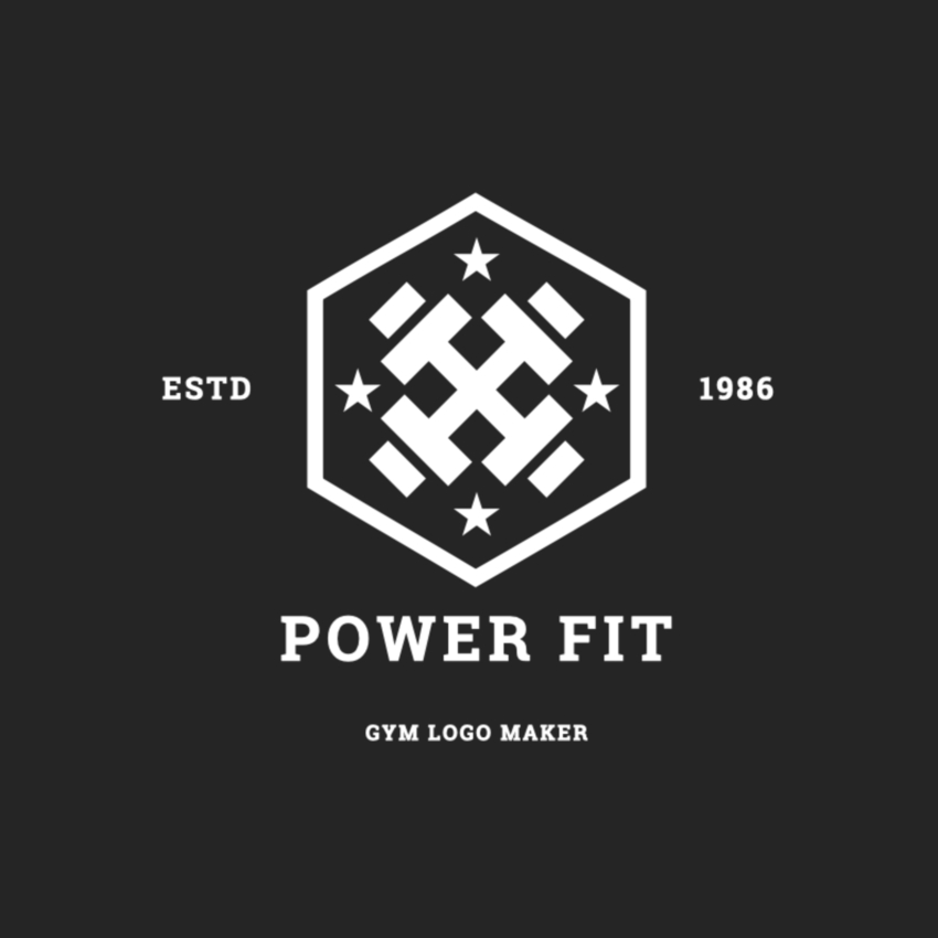 Gym Logo Maker with Badge Design