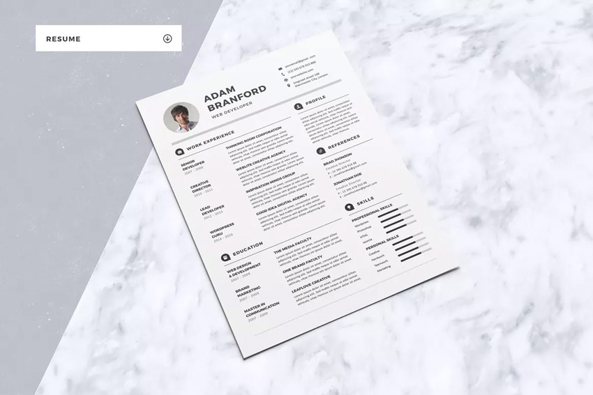 Connection Resume Example