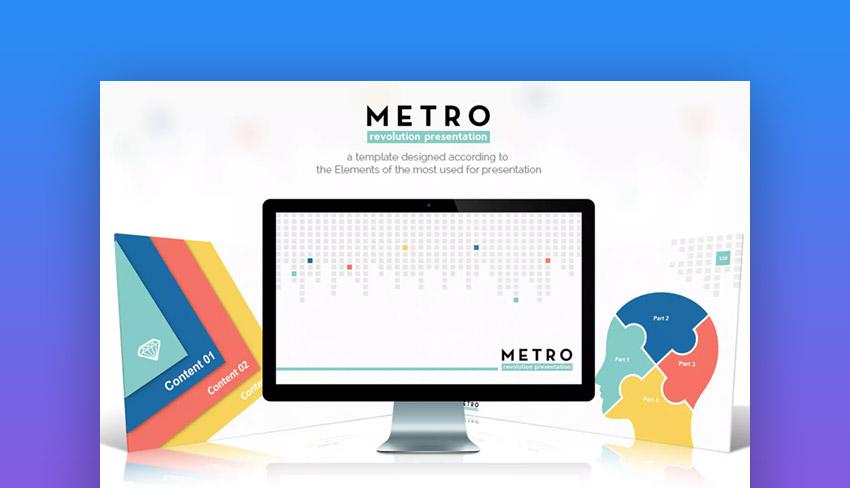 Metro Keynote template on Elements gradient