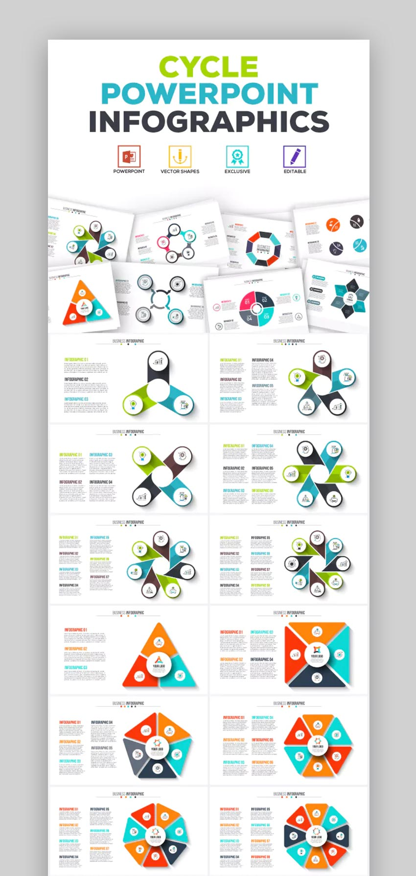 Cycle PowerPoint Infographics