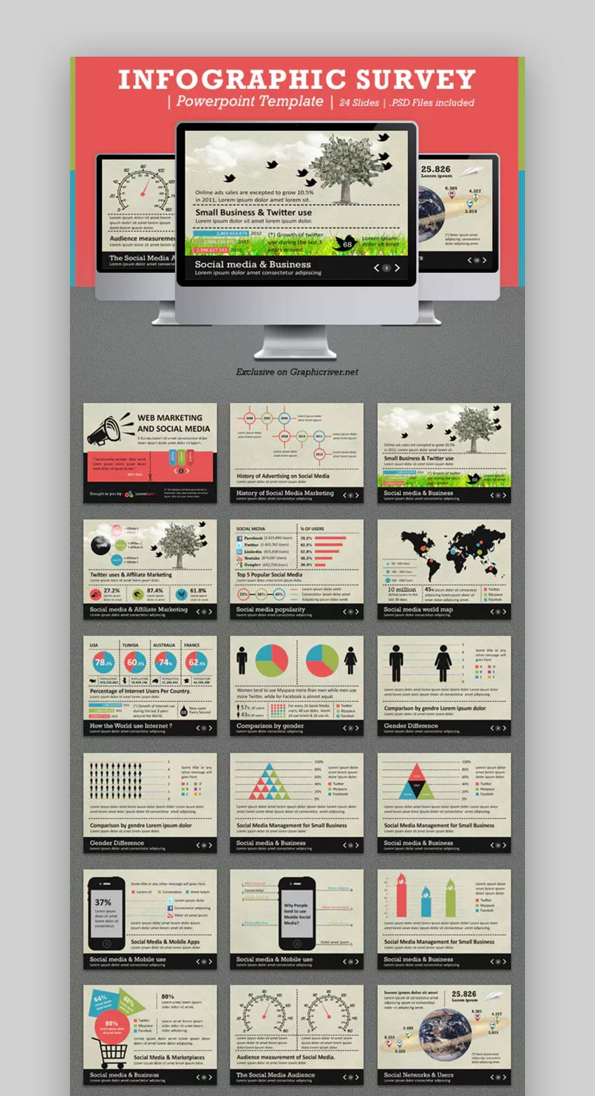 Infographic Survey PPTX Template