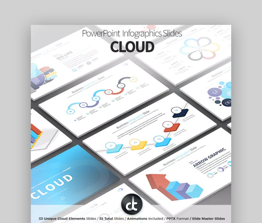 Cloud PPTX Infographics