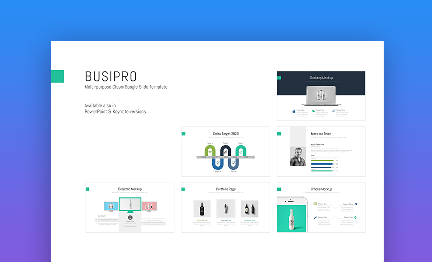BusiPro Clean Google Slides