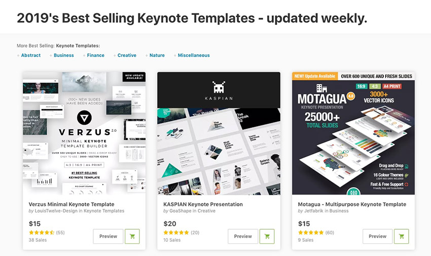 2019s best selling Keynote Templates