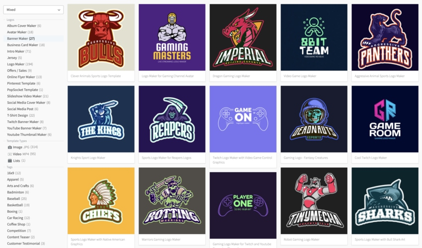 20 Cool Gaming Logos: Team + Video Games (Online Design Creator)