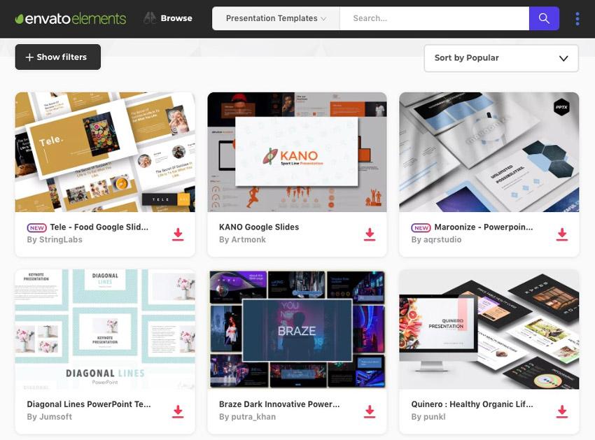Envato Elements PowerPoint Templates