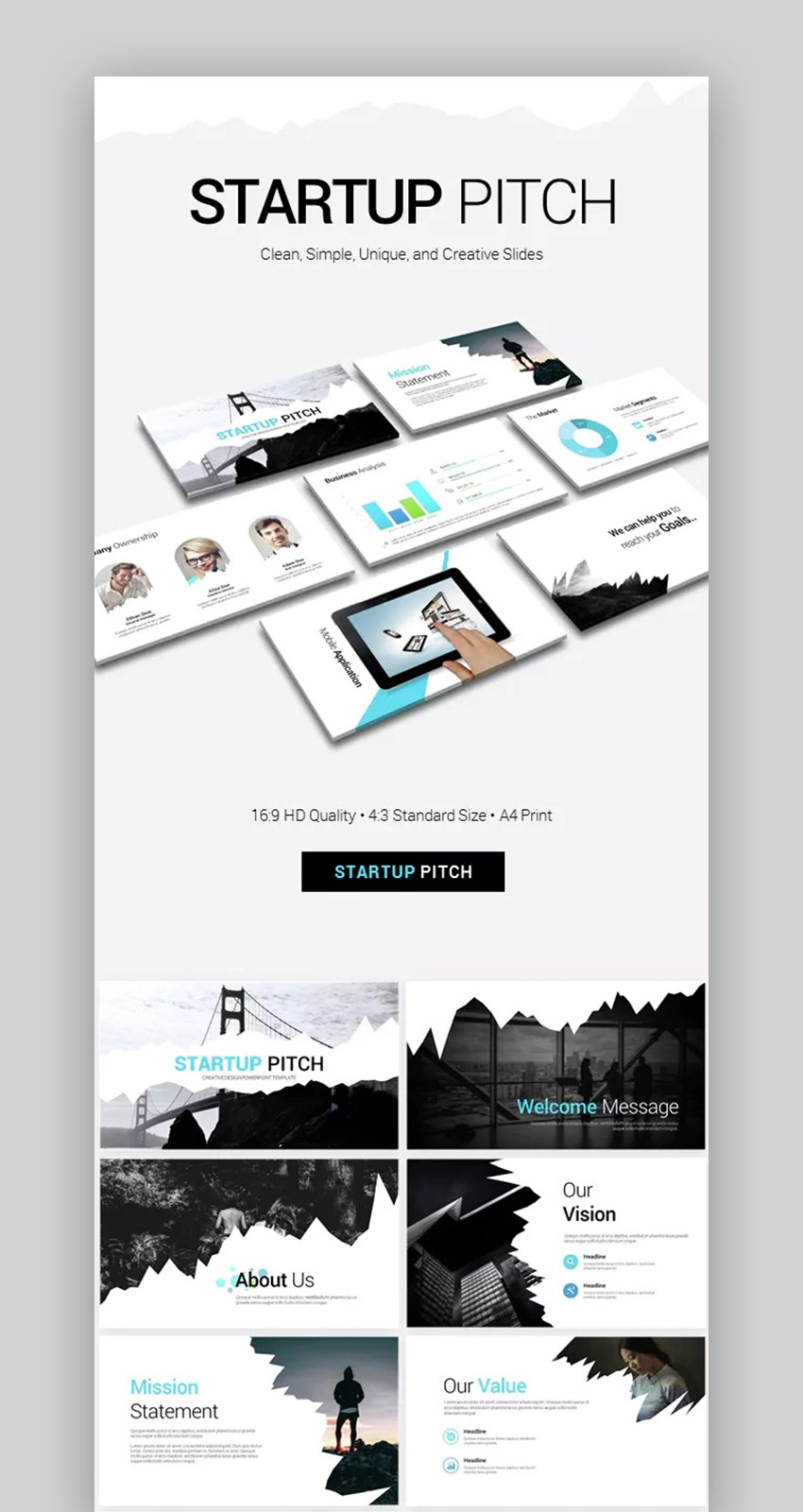Startup Pitch Best Presentation PowerPoint Templates