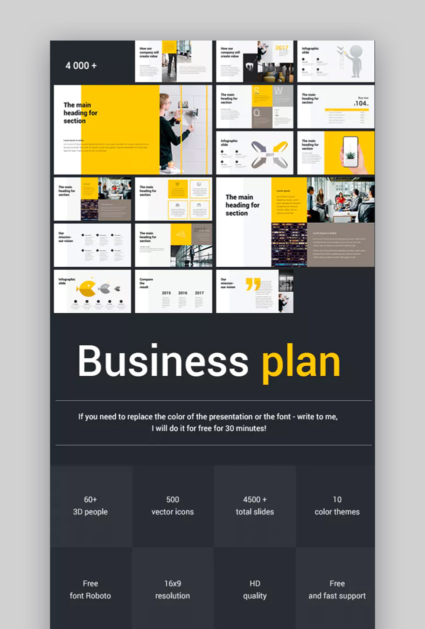 40 Cool Free Powerpoint Templates Business Plan Summer Background
