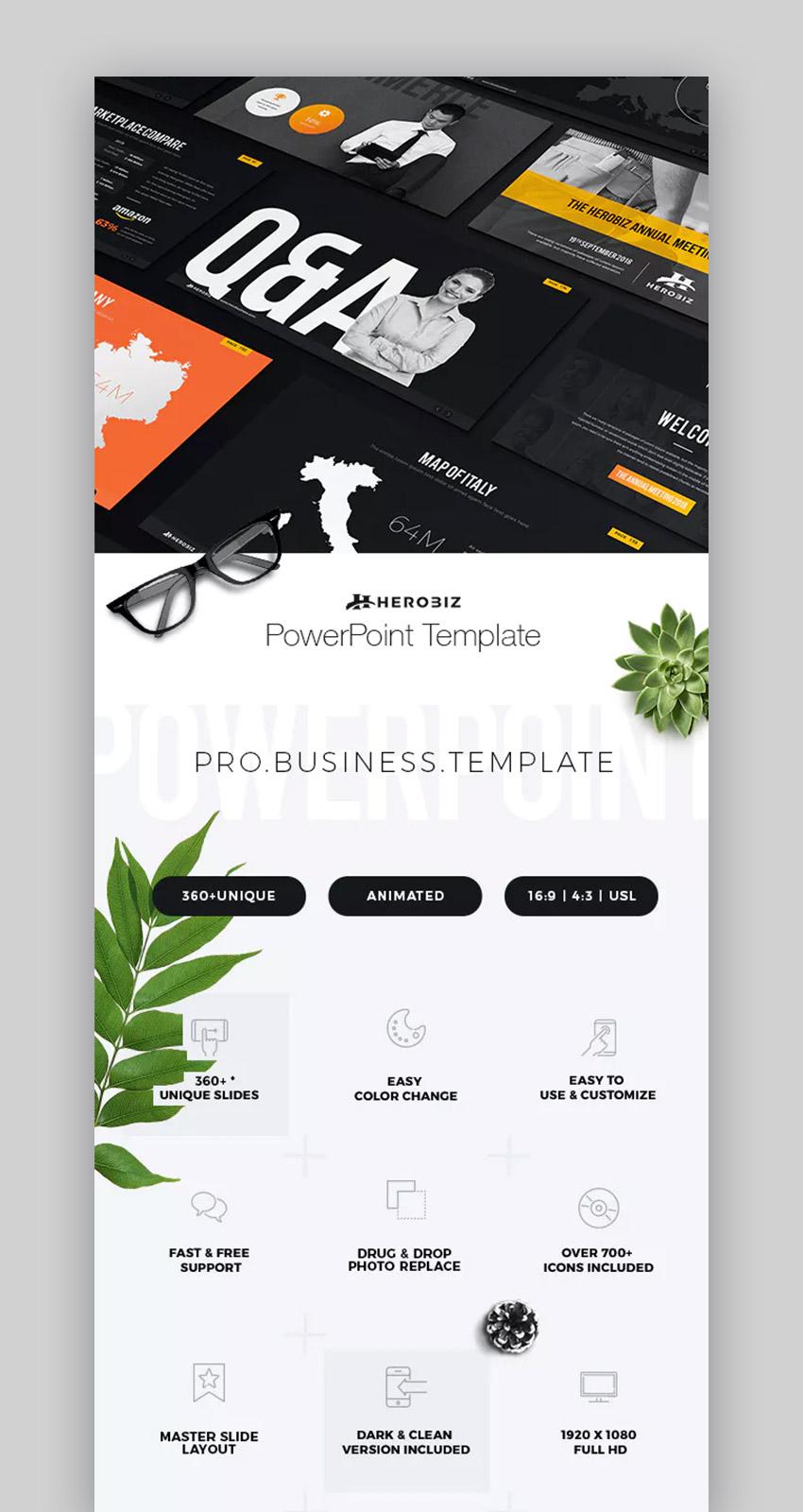 Herobiz Business Plan Presentation PPT