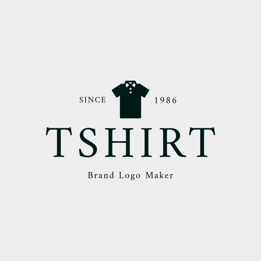 Minimalist t shirt brand logo