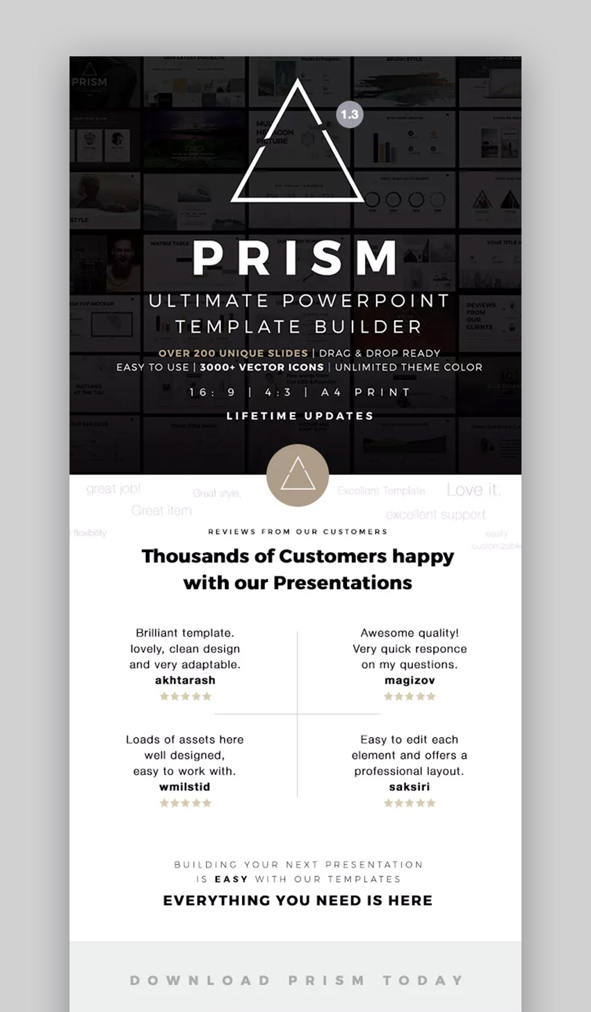Prism Simple PowerPoint Theme