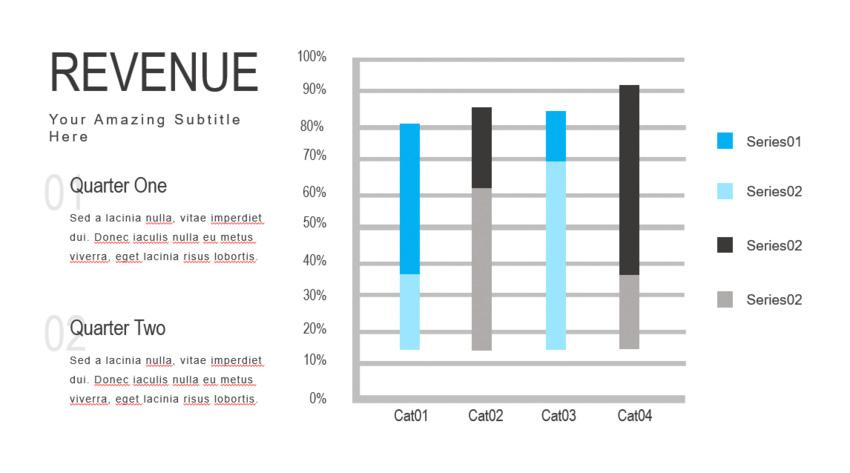 Diapositiva de crecimiento en ingresos