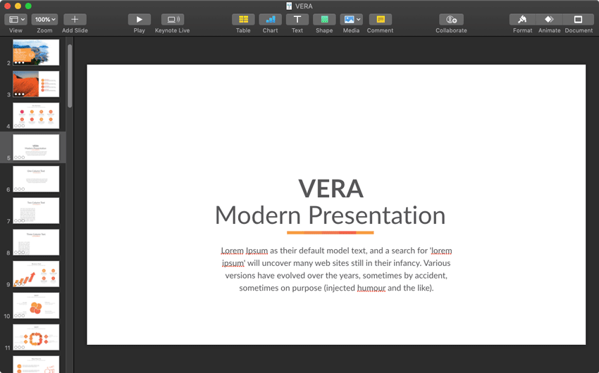 Vera starting point
