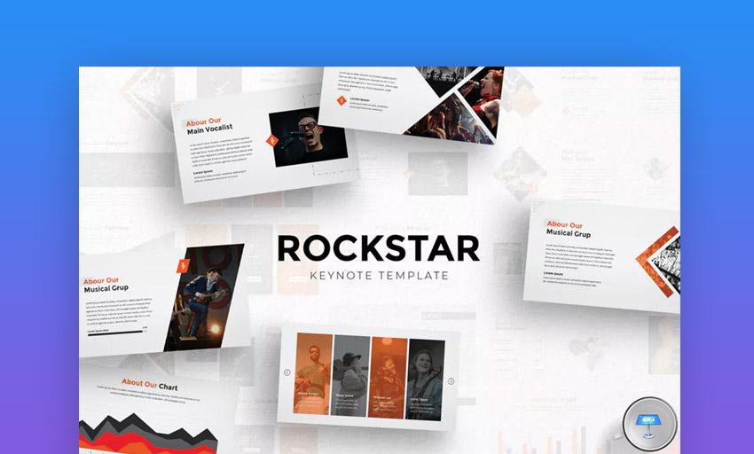 Rockstar Keynote template