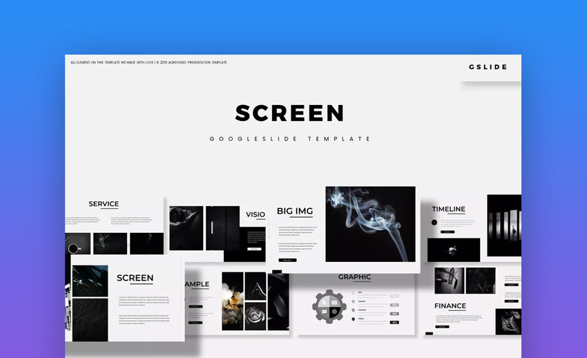 Screen Google Slides Template
