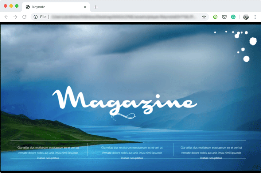 Magazine in Chrome browser