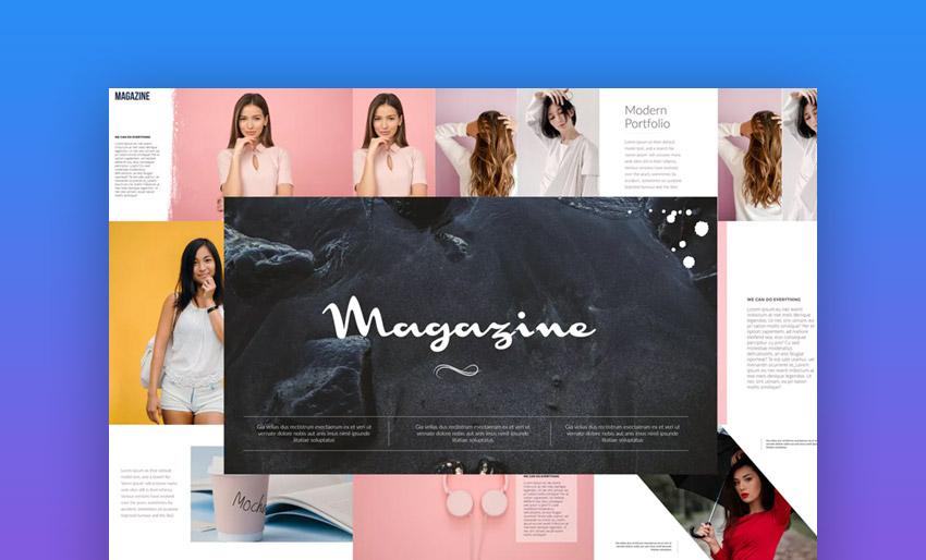 Magazine on gradient background