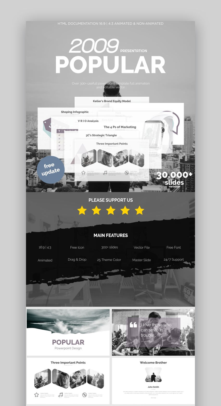 Popular Clean PowerPoint Template