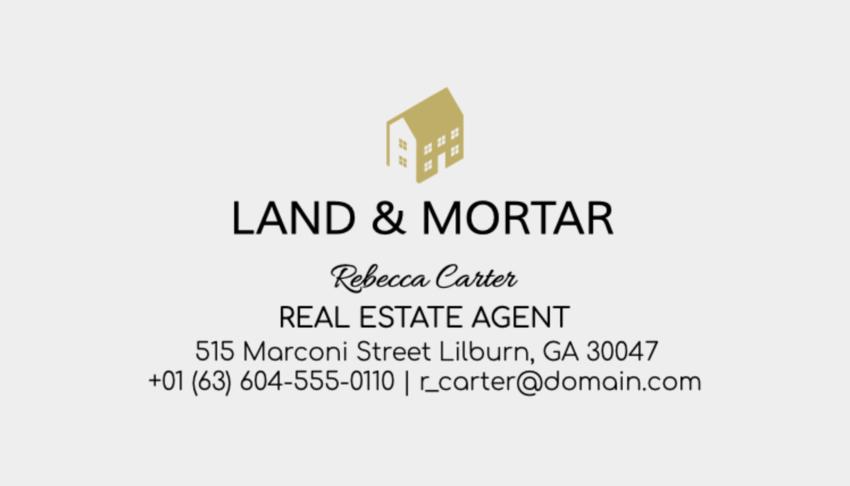 Business Card Maker for Real Estate Agents