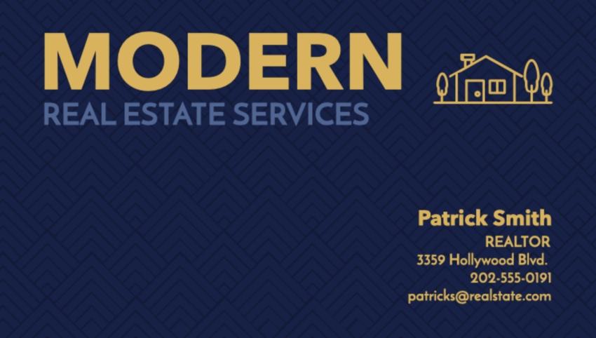 Real Estate Business Card Maker