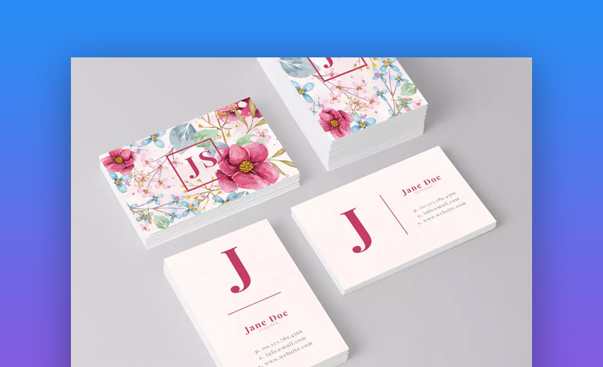 Business Card Template with Best Fonts