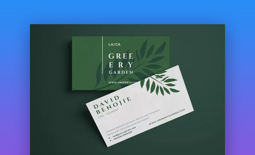 Garden Business Card Design