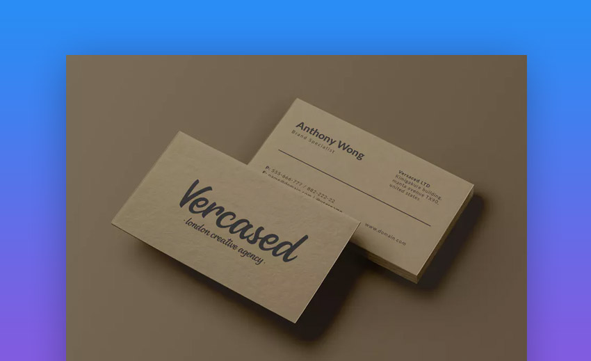 Scripted Business Card Design