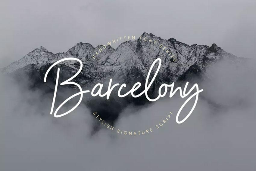 Barcelony script font