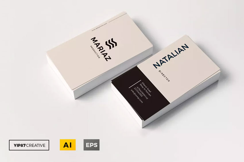 Business Cards with typography
