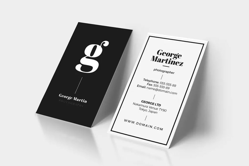 Business Card Font Pairings