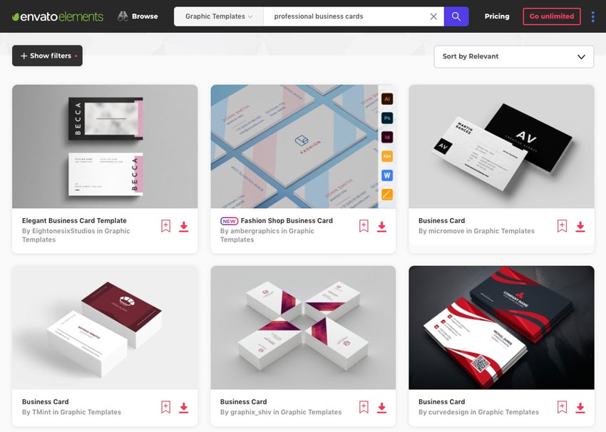 Elements Business Card Templates