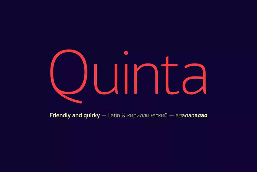 Quinta sans serif