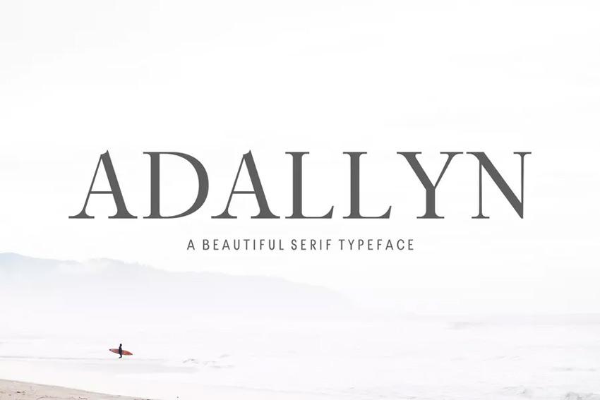 Adallyn serif font for PowerPoint