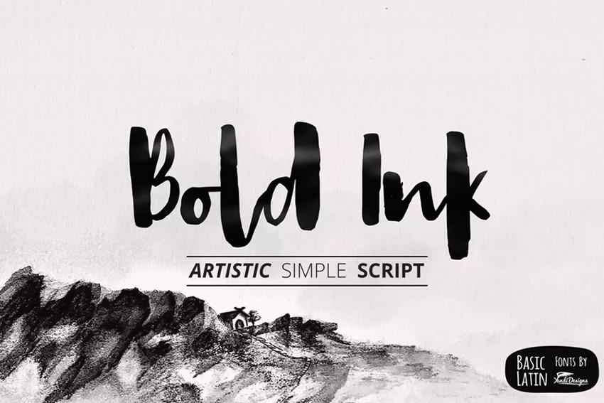 Bold ink font choice
