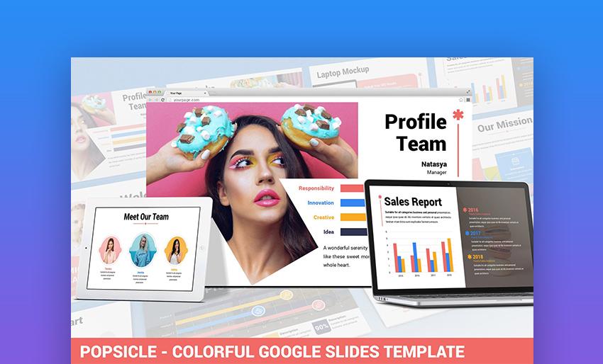Popsicle Colorful Google Slide