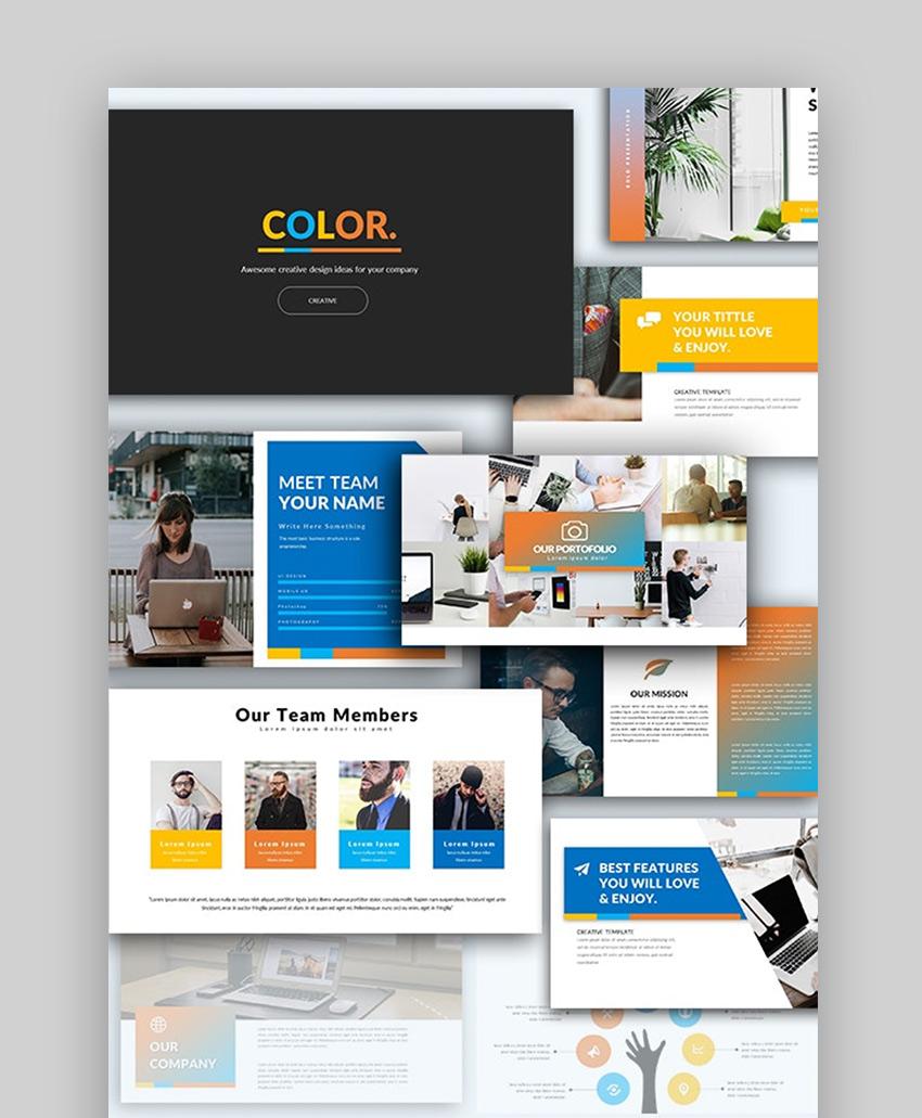 Color Multipurpose Fun Google Slides Themes