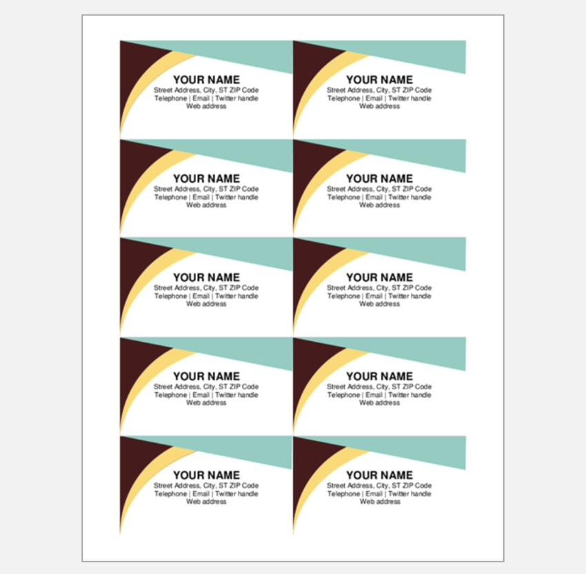 Movie Ticket Business Card template