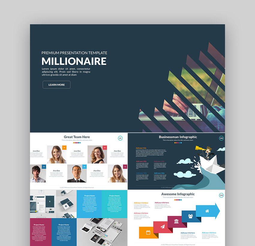 Millionaire Business Presentation Templates