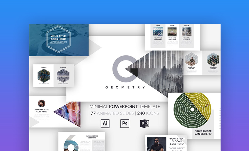 25 Attractive Aesthetically Pleasing Powerpoint Templates