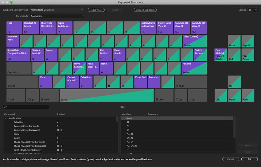 Edit keyboard shortcuts