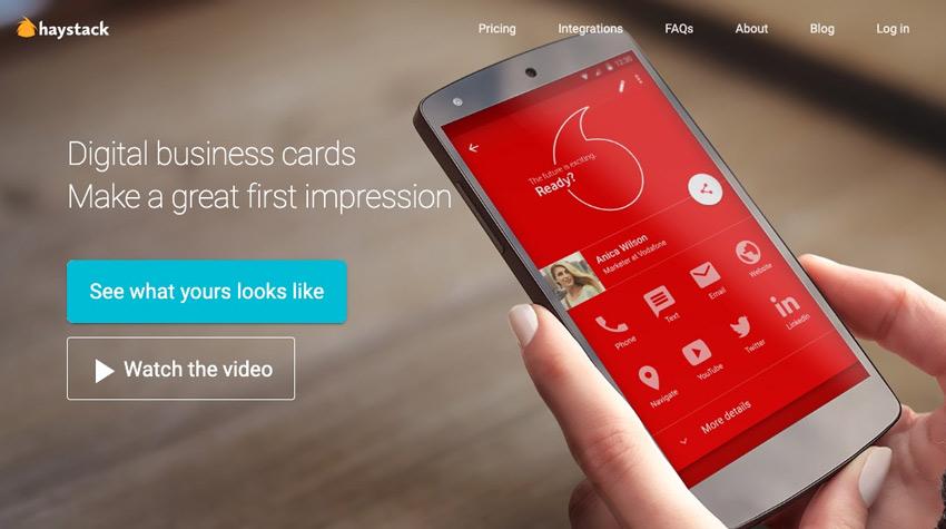 Haystack digital business card free